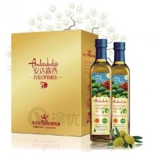 安达露西原装原瓶进口橄榄油500ml*2礼盒