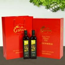 西班牙原装原瓶进口(奥力图)特级初榨橄榄油750ml*2精装礼盒