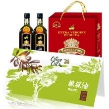 帝王原装进口橄榄油500ml*2红典礼盒礼劵礼品卡